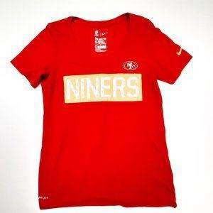 Nike San Fran 49er's Women's V-neck T-shirt Size M